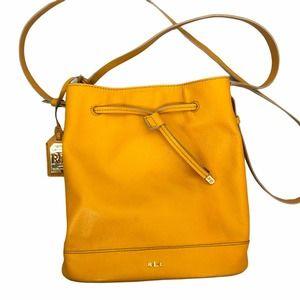 Ralph Lauren Dryden Debby Bucket Bag Mustard
